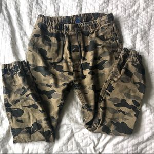 H&m Divided Joggers Army Camo Print Draw String